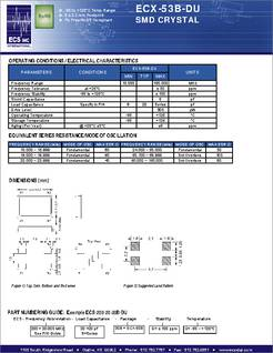ECS-44-20-1X Crystals 4.433618MHz 20pF Pack of 50