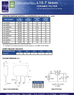 L10 7 Datasheet Ceramic Filter