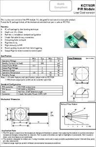 Kc7783r Datasheet Pir Module Low Cost Version