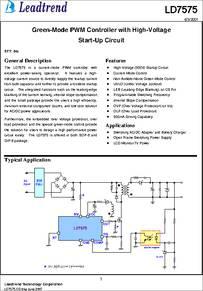 Ld7575ps Datasheet Green Mode Pwm Controller With High