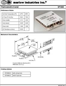 Sp1848 Datasheet Thermoelectric Cooler