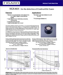 TGS813 datasheet  TGS 813  for the Detection of