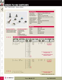 TLE-1105-A-F100-Q datasheet - TACT Switches - 6mm x 6mm