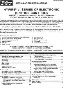 685 datasheet - Electronic Ignition Controls on mallory battery, mallory gauges, mallory resistors, mallory furniture, mallory electronics,