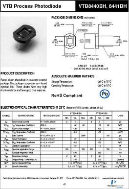 photodetector Excelitas Tech-vtb8441bh-opto-sensor